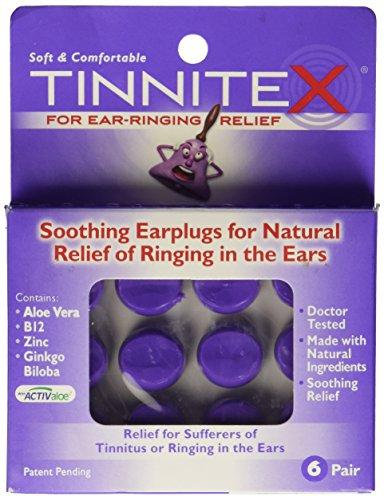 Tinnitex bouchons d'oreilles apaisant pour le soulagement naturel des bourdonnements dans les oreilles, pr 6