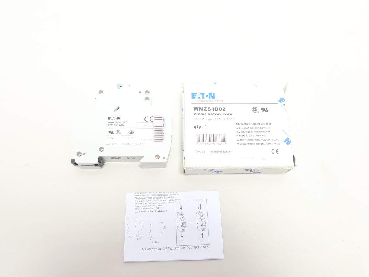 EATON WMZS1D02 Molded CASE Circuit Breaker 1P 2A AMP 277V-AC