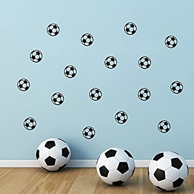 ufengke Small Soccer Footballs Wall Decals, Children's Room Nursery Removable Wall Stickers Murals: Home & Kitchen