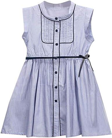 ASHOP Vestidos niña 4 años Faldas Cortas Vestido Casual Verano ...