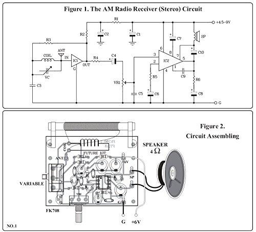 amazon com : am radio circuit using ic mk484 unassembed kit 4 5-9vdc free  2 5w speaker : everything else