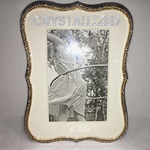 - Swarovski CRYSTALLIZED Kate Spade Crown Point Picture Frame Crystals Bling - Silver or Gold