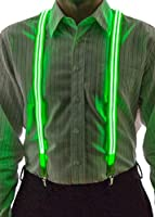 Neon Nightlife Men's Light Up LED Stripe Suspenders, One Size