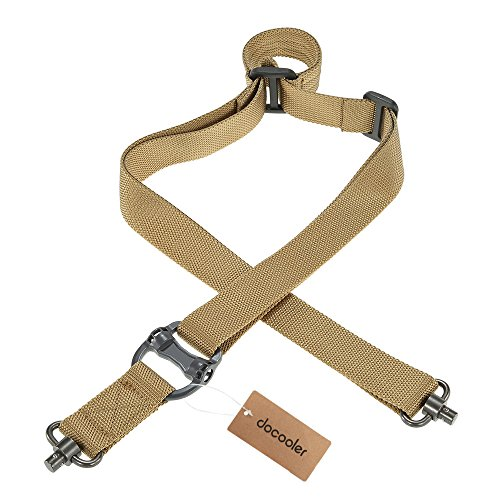 Docooler Military Tactical Safety Two Points Outdoor Belt QD Series Sling Adjustable Strap (Safety Sling)