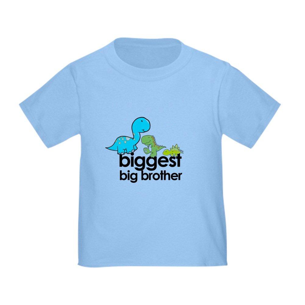 100/% Cotton Cute Toddler T-Shirt CafePress Biggest Big Brother T-Shirt Dinosaur Toddle