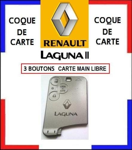 Carcasa de tarjeta modelo mano libre 3 botones Renault ...