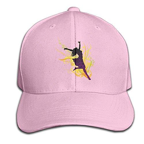 Predatorda Dance Men's Peaked Baseball Cap Pink