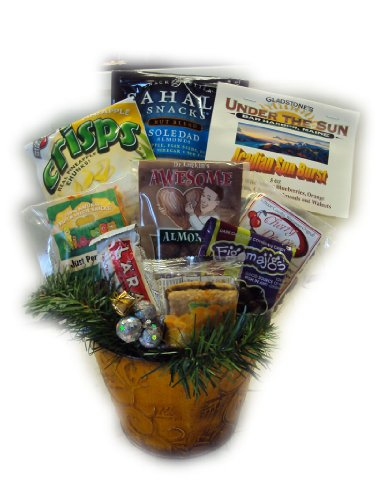 Fruitcake Alternative Healthy Christmas Gift Basket by Well Baskets