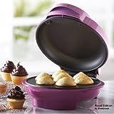 Royal 7 Portion Mini Cupcake Maker Smart Electric Non Stick Surface - Make 7 Professional Cupcakes