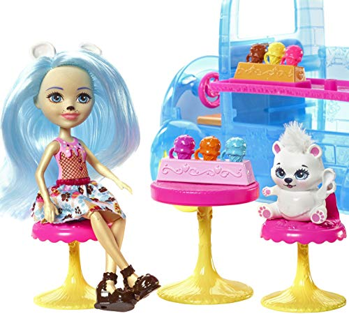 Enchantimals Frozen Treats Truck + Preena Penguin Doll & Jayla Figure