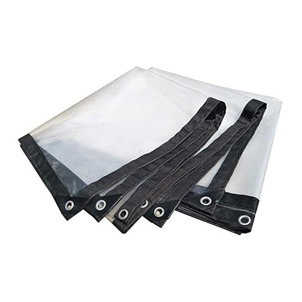 Wangcfsb BÂche résistante, revêtement de Sol en bÂche imperméable de PVC Transparent en Verre Multi-usages avec Le Joint et Les Bords renforcés (Couleur   Transparent, Taille   4x8M) Transparent 4x8M