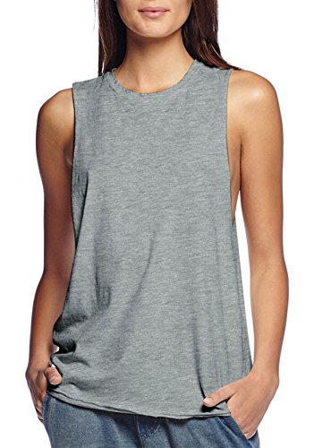 Womens Cotton Jersey Tank Top Shirt KT44040 heathergrey - Cotton Tank Top Jersey