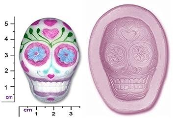 Molde de silicona para repostería con calavera del día de los muertos: Amazon.es: Hogar