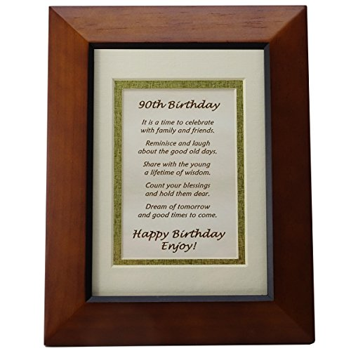 Happy 90th Birthday Toast Poem - 90th Birthday Gift (Delivery For Birthday Gifts)