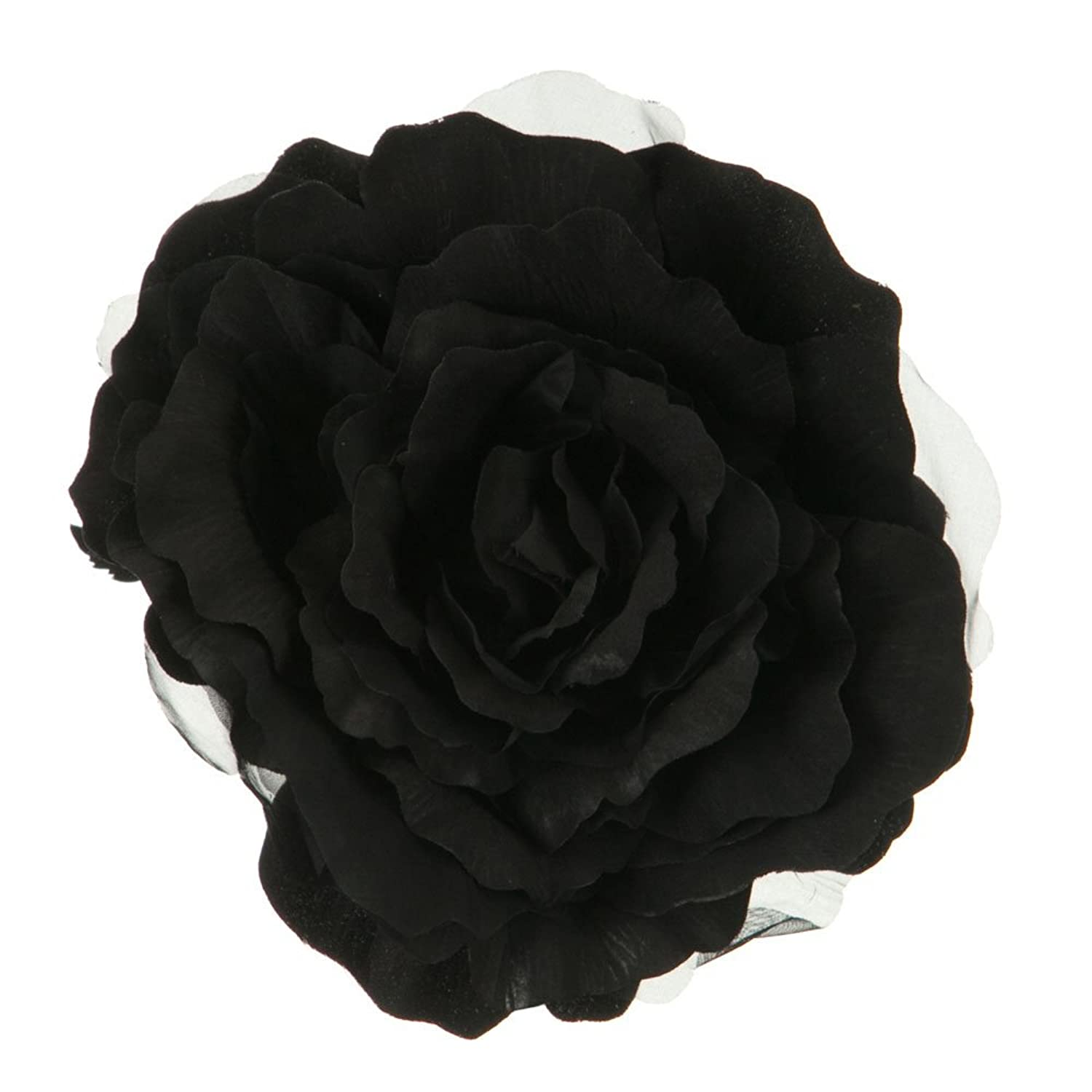 Amazon Large Silk Rose Artificial Flower Hair Clippin Brooch