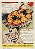 1941 Ad Pillsbury Best Flour Down South Meat Pie Recipe - Original Print Ad