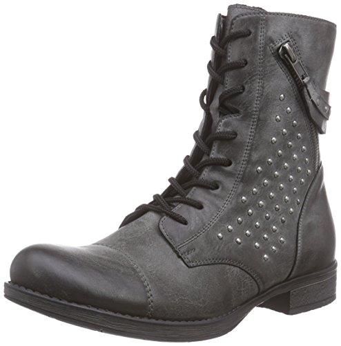 Remonte D4185 Damen Combat Boots Grau (asphalt / 45)