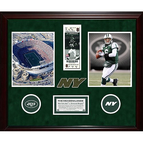 Steiner Sports NFL New York Jets Final Ticket Collage with Ticket, Turf, Photo, Logos and Nameplate Package - Jets Steiner