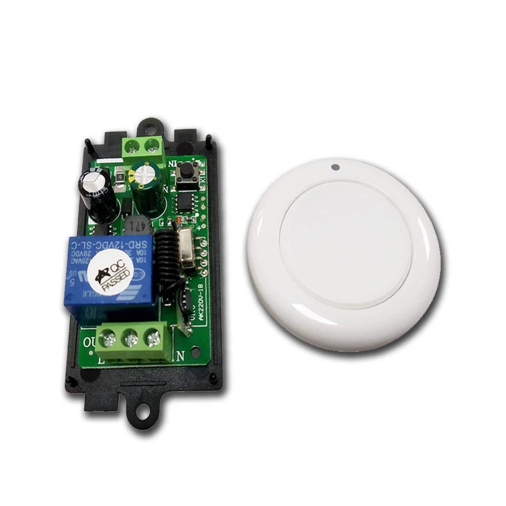 perfk AC 85V 260V Fernbedienung 433 MHz Empf/änger Sender Funksteuerung Funkfernbedienungsschalter Zwei Schl/üssel
