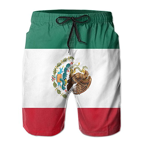 Mexican Flag Summer Quick-drying Board Short Beach Pants For Men X-Large