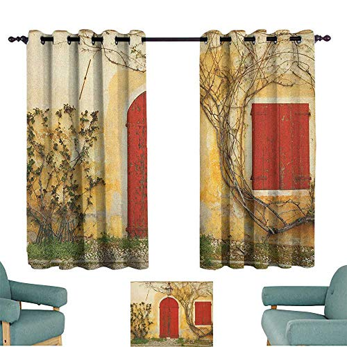 Shutters Privacy Curtain Doorway with Blinded Door and Window to The Rural Tuscan House Italy Europe Darkening and Thermal Insulating 55