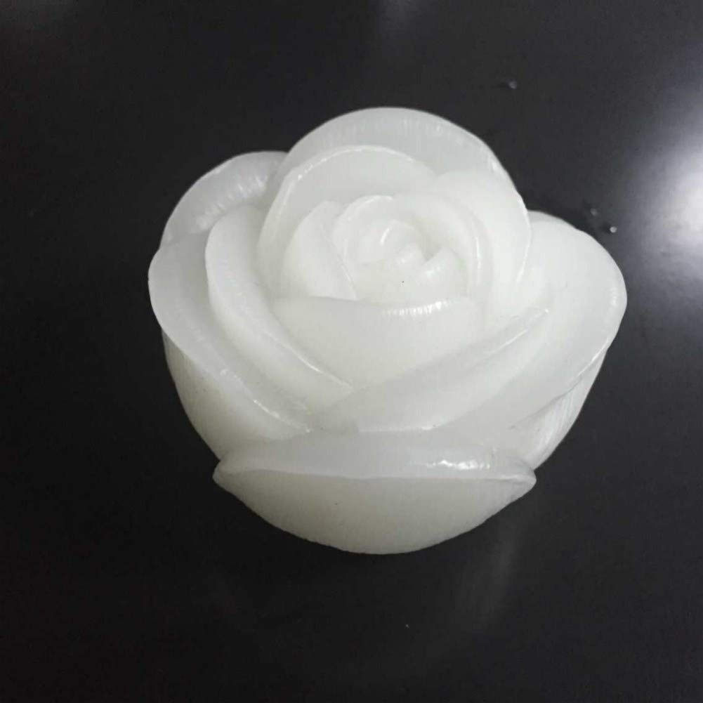 Blanc chaud, 4/pcs Lacgo Halloween 7,6/cm LED vacillante en cire v/éritable Eau flottant Rose en forme de bougies pour mariage festival ou f/ête D/écoration