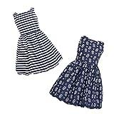 kantann Girls Reversible Dress Floral Stripe Cotton Casual Swing Sleeveless Party Dresses Girls