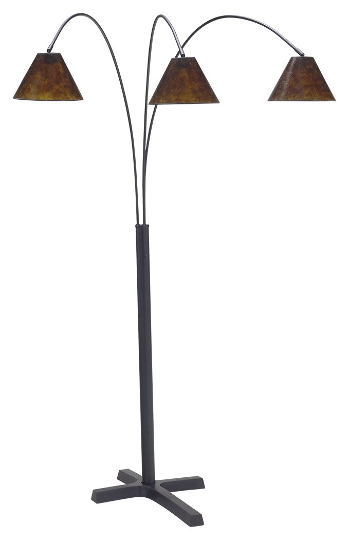 Ashley Furniture Signature Design - Sharde Metal Arc Adjustable Floor Lamp - Matte Black by Signature Design by Ashley