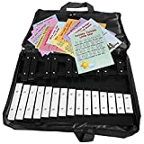Large Xylophone 25 Notes Full Chromatic from G to G Tuned New - Bag - Shhet Music Card Set