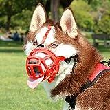 Best Dog Muzzles - KITAINE Pet Dog Muzzle RED, Soft Ergonomics Basket Review