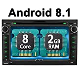 PUMPKIN Android 8.1 Car Stereo for Chevy Silverado GMC Sierra Acadia Yukon with DVD Player, GPS, WiFi, Support Android Auto, Backup Camera, Touch Screen