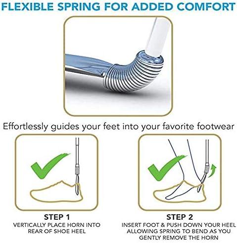 軽量 シューホーンセットエクストラロングステンレススチール製の靴べらと短い春の靴ヘルパーを含めます 耐用 (Color : Silver, Size : One size)