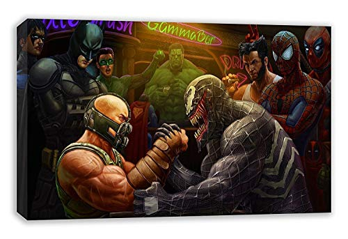 MARVEL VENOM VS DC BANE COMIC BOOK SUPERHEROES CANVAS WALL ART (30