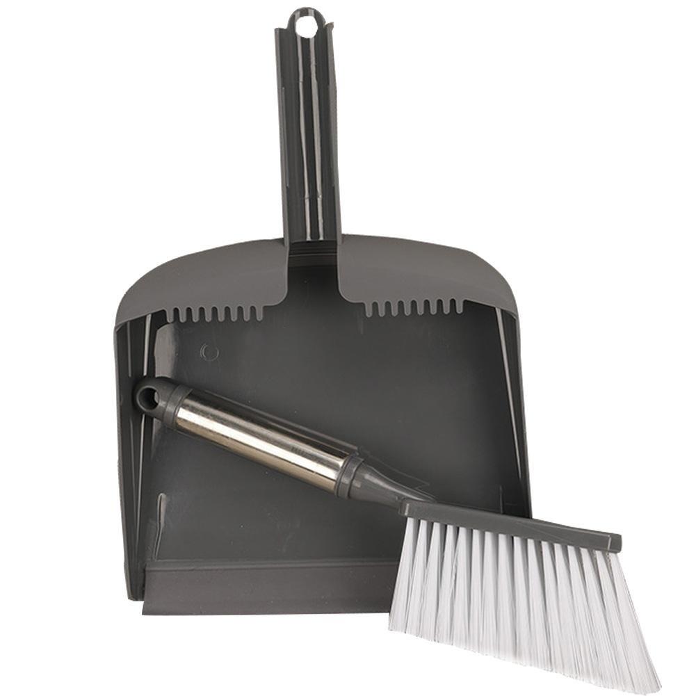 flower205Set di scopa e paletta in acciaio inox Set di spazzole in plastica scrivania di combinazione Set di scopa di prodotti di pulizia per el Hogar