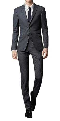 WEEN CHARM スーツメンズ 上下セット セットアップ ビジネススーツ スリム 着心地良い 礼服 結婚式 就職スーツ オールシーズン シンプルデザイン 上下セット 無地 パーティー スーツ