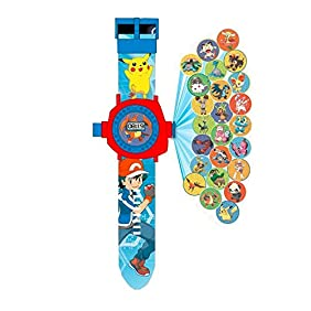 OYW LED digital 24 projector Pokemon Go cartoon watch children wristwatches clock girl gift baby toys