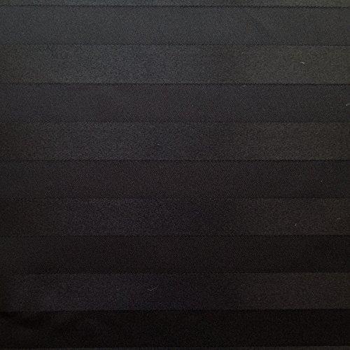Glossy Satin Stripes Black 60 Inch Wide Fabric by the Yard (Satin Stripe Fabric)