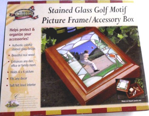 (Stained Glass Golf Motif Picture Frame / Accessory Box)