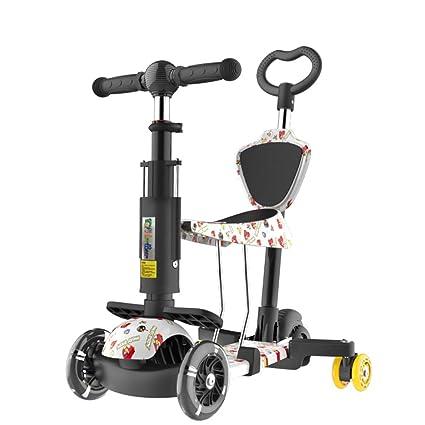 Patinetes clásicos Scooter para niños Pedaleo para niños Bicicleta para bebés Carrito de bebé Plegable de