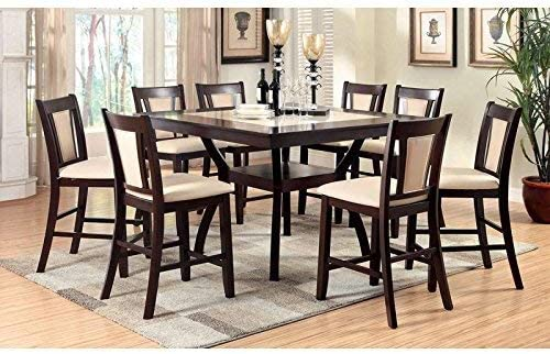 247SHOPATHOME dining-room-sets, 9-Piece, Dark Cherry