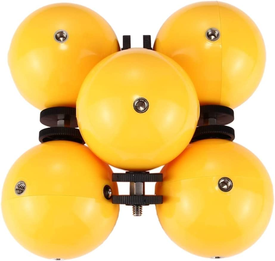 5 PCS Diving Floaty Bobber Ball with Safety Wrist Strap /& 4 x Connection Mount /& Tripod Adapter /& Long Screw /& Wrench for GoPro HERO6 //5 //5 Session //4 Session //4 //3 //3 //2 //1 Xiaoyi and Other Action