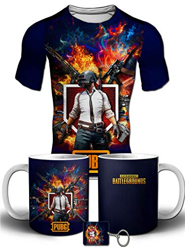 PrintMyFashion PUBG Version 2.0 Full Front Printed T-Shirt Combo Kids/Boys