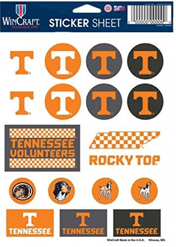 NCAA University of Tennessee Vinyl Sticker Sheet, 5