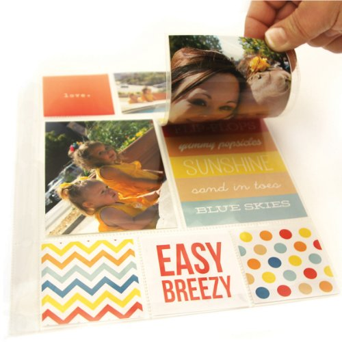 Simple Stories SNAP4065 Snatp! Photo Flips for 6 by 8-Inch Binders, 4 by 6-Inch, 12-Pack