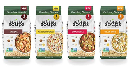 (Canterbury Naturals Bestsellers Bundle (4 Pack): Down Home Chicken Noodle, Roasted Garlic Potato Corn, Rustic Fireside Tortilla, and On the Bayou Jambalaya)