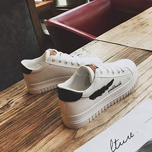 Blancos Artificiales de Deporte Zapatos Zapatos de PU eight Thirty Sn Mujer pequeños Casuales nbsp;Eakers Tamaños Zapatos WFCAYDHN Zapatillas qzR46z