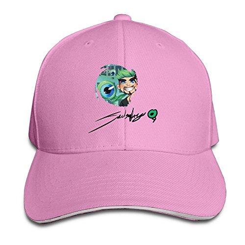 - Jacksepticeye Signature Cartoon Eye Unisex Sandwich Cap Pink