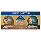 BLUE Life Protection Dog Food BLUE Divine Delights Adult Small Breed Variety Pack Filet Mignon Flavor in Hearty Gravy and New York Strip Flavor in Hearty Gravy Wet Dog Food 3.5-oz (Pack of 12)