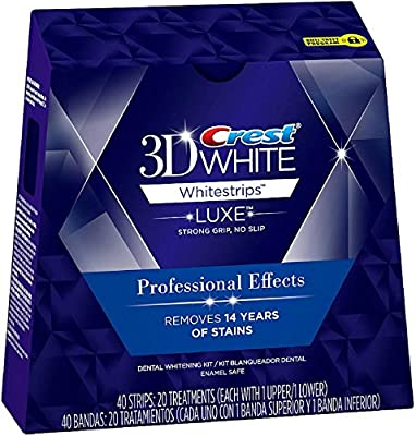 Crest 3D White Luxe Whitestrips Professional Effects Teeth Whitening Kit 20 ea