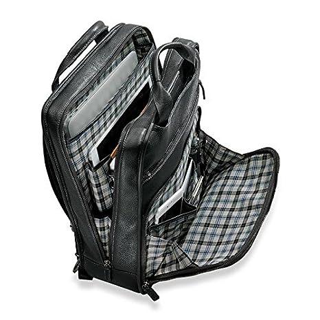 Black Levenger Bomber Jacket Backpack Brief 2.0